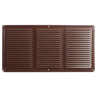 16 in. x 8 in. Aluminum Under Eave Soffit Vent in Brown
