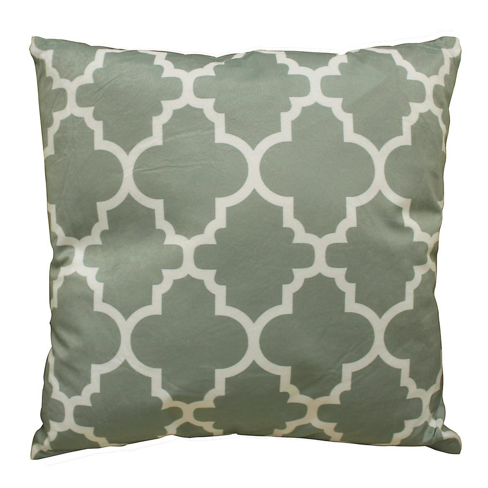 Bellagio Trellis 18 in. x 18 in. Square Accent Pillow
