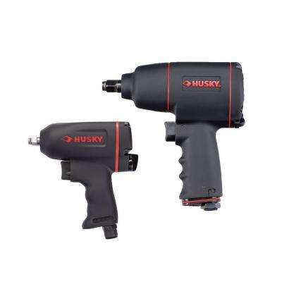 2-Piece Air Tool Kit with 1/2 in. Impact Wrench (550 ft./lbs. of Torque) and 3/8 Impact Wrench