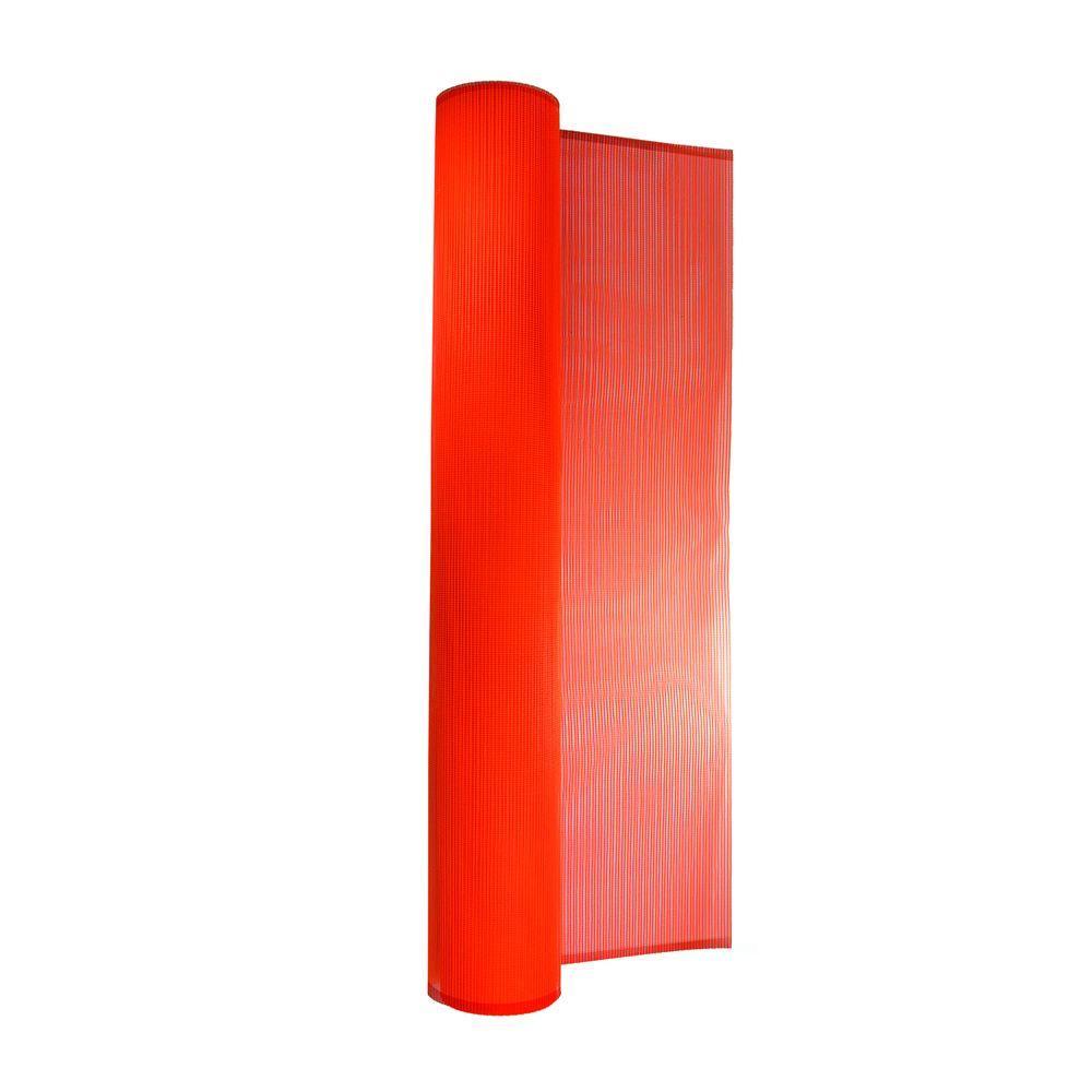 BOEN 4 ft. x 150 ft. PVC-Coated Orange Debris Safety Netting