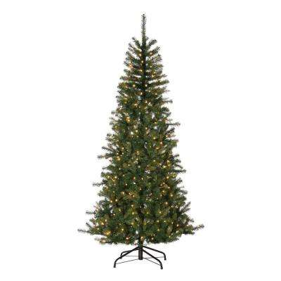 7 ft. Natural Cut Noble Fir Artificial Christmas Tree with 500 UL Warm White LED Micro Lights