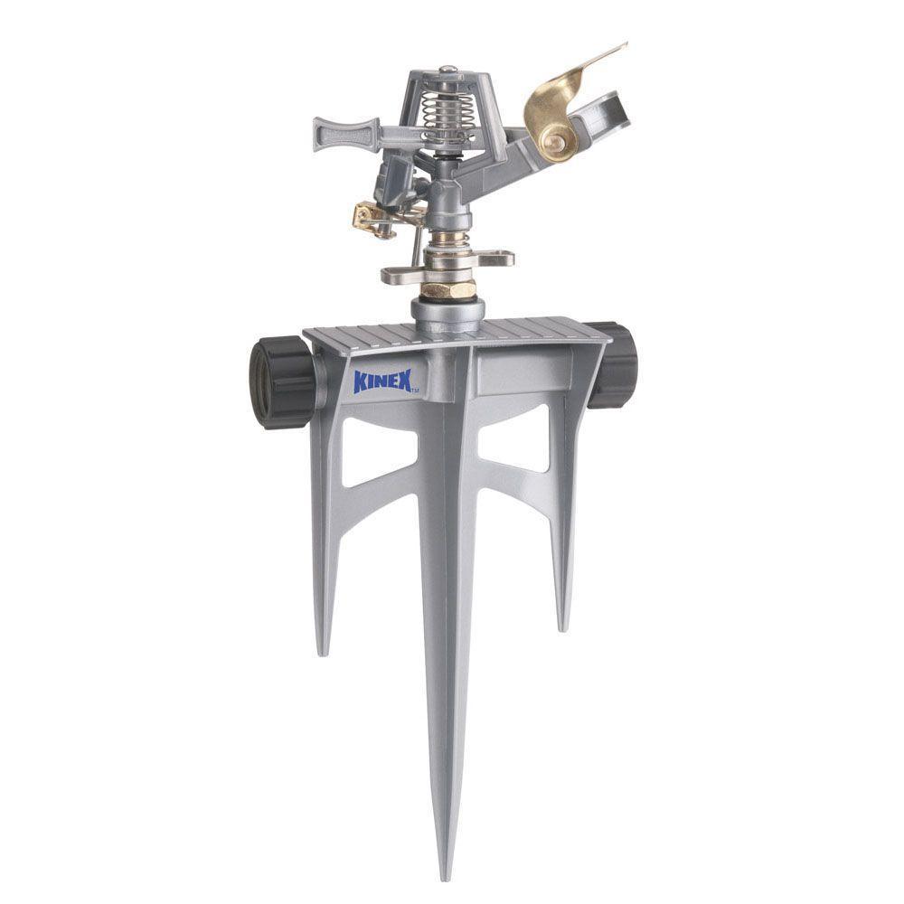 Kinex 5000 sq. ft. Metal Impulse Sprinkler on Metal Triple Spike-DISCONTINUED