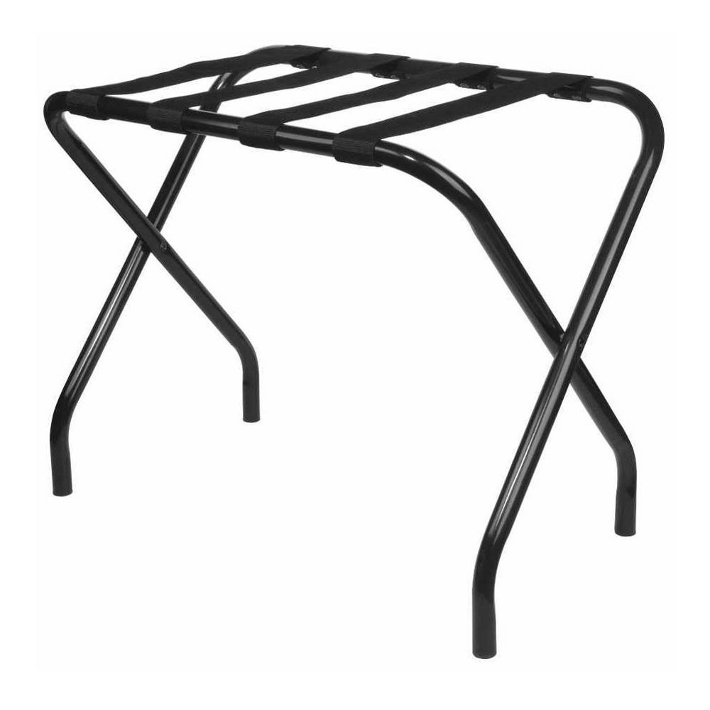 Kings Brand Furniture Black Metal Folding Luggage Rack 951krl The Home Depot