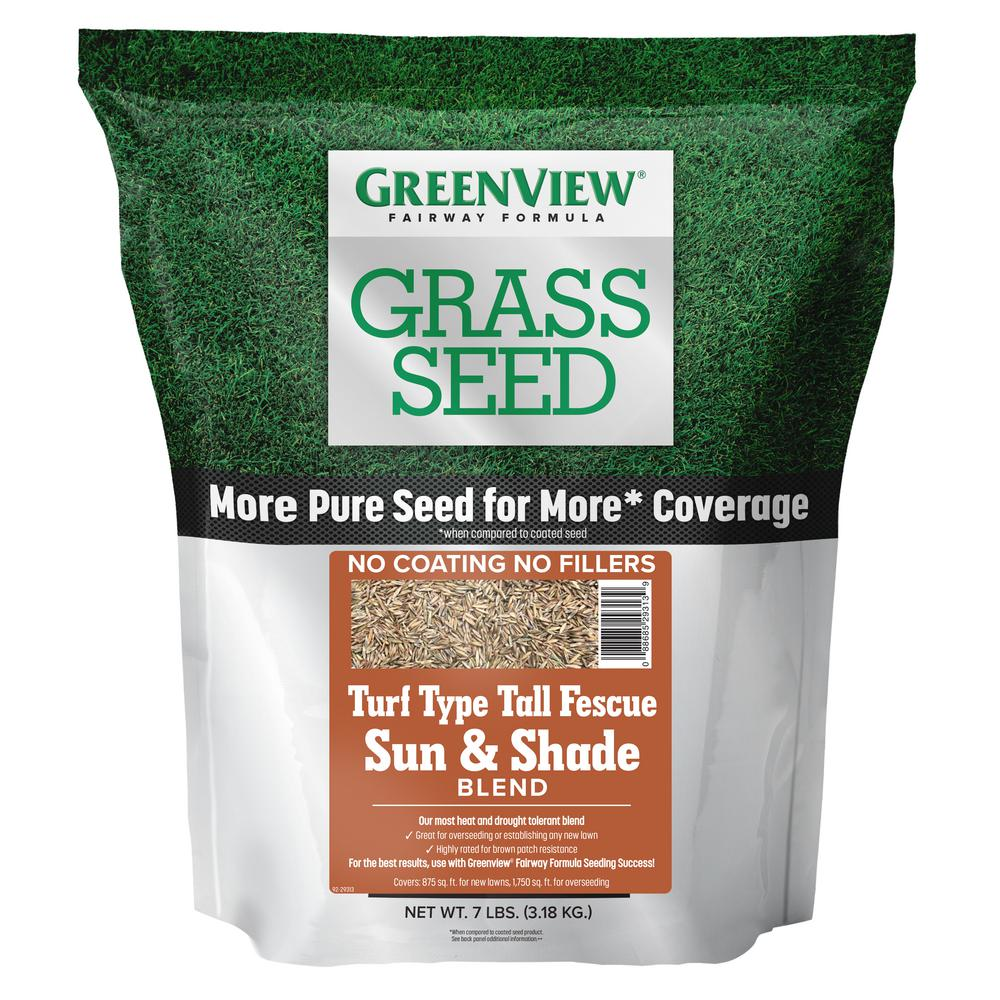GreenView GreenView 7 lbs. Fairway Formula Grass Seed Turf Type Tall Fescue Sun and Shade Blend