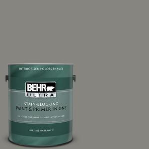 1 gal. #UL200-4 Pier Semi-Gloss Enamel Interior Paint and Primer in One