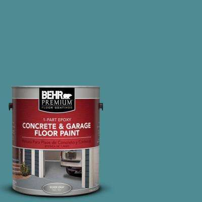 1 gal. #PFC-49 Heritage Teal 1-Part Epoxy Concrete and Garage Floor Paint