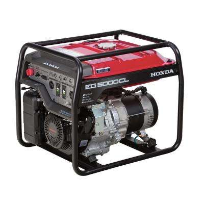 5000-Watt Gasoline Powered Portable Generator with GX390 OHV Commercial Engine and Oil Alert