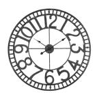 Manhattan Industrial Wall Clock, Analog, Black, 24""