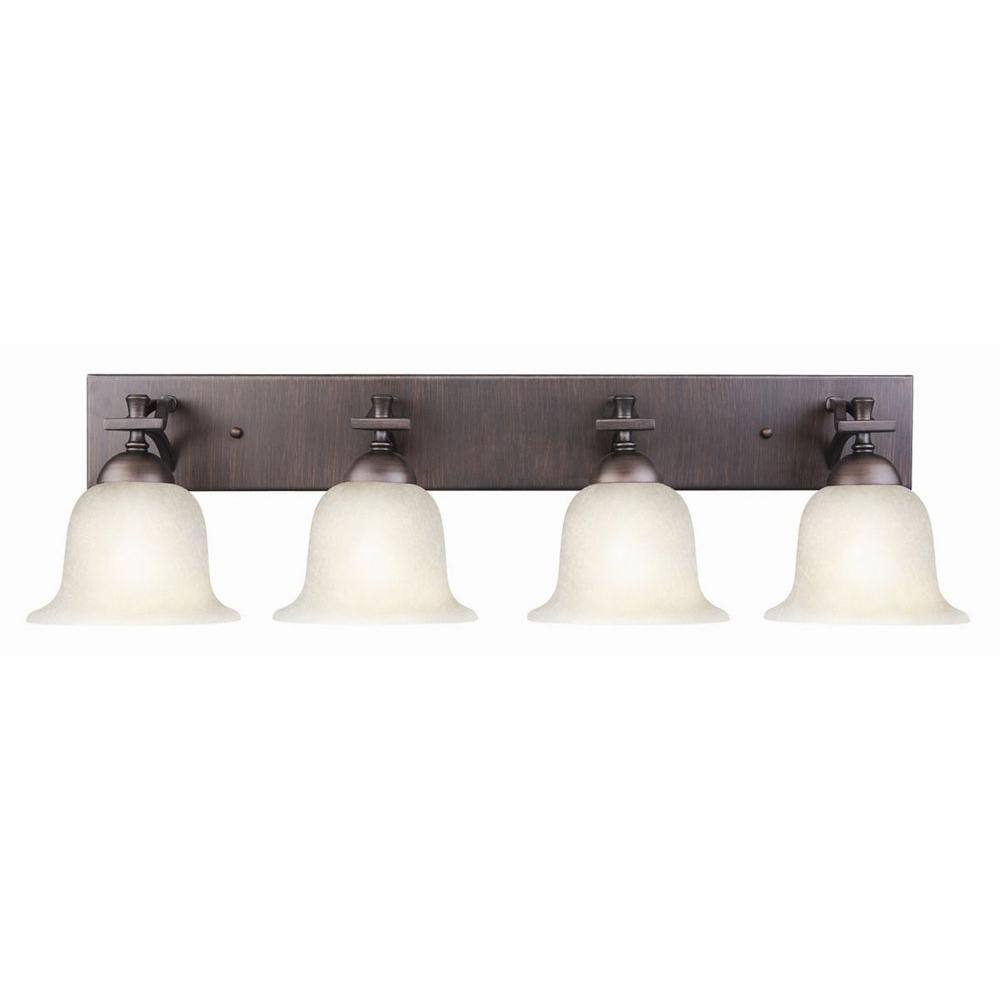 Design House Ironwood 4-Light Brushed Bronze Vanity Light