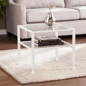 Southern Enterprises Galena Metal and Glass White Bunching Cocktail Table by Southern Enterprises