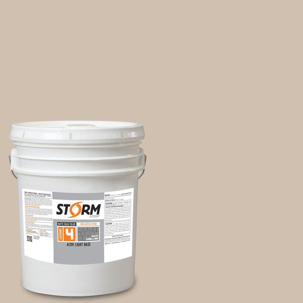 Storm System Category 4 5 gal. Bedrock Matte Exterior Wood Siding 100% Acrylic Stain