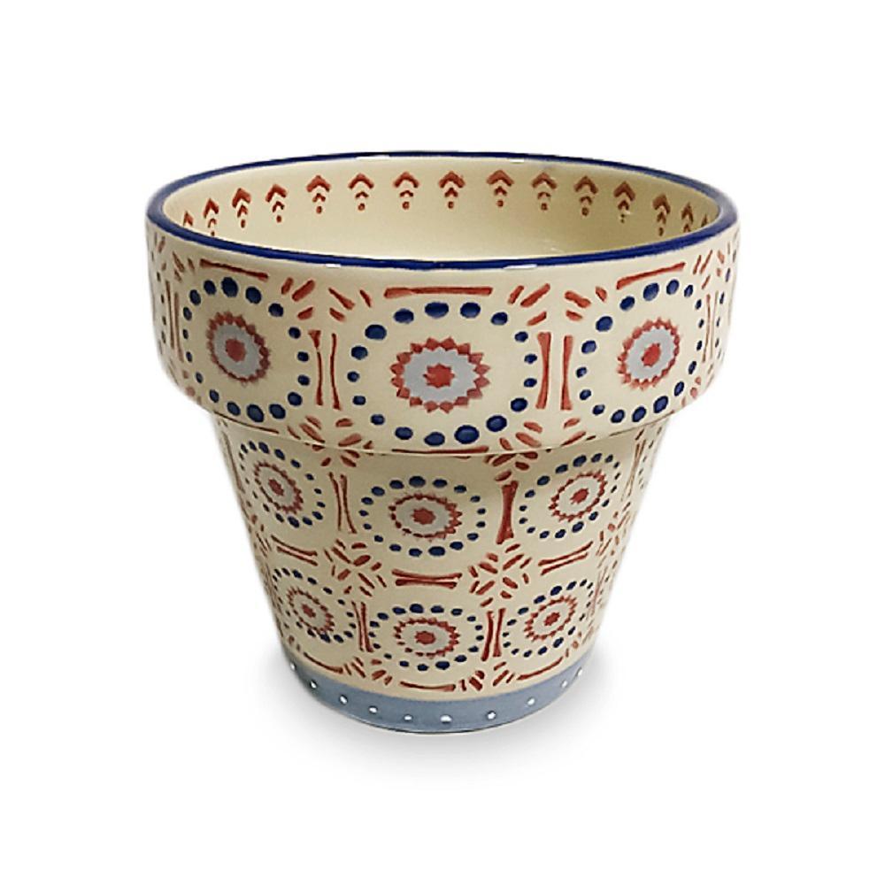 7.25 in. Global Electric Marsala Ceramic Planter