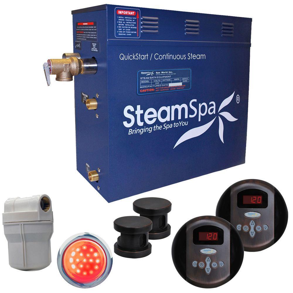 SteamSpa Royal 10.5kW Steam Bath Generator Package in Oil Rubbed Bronze