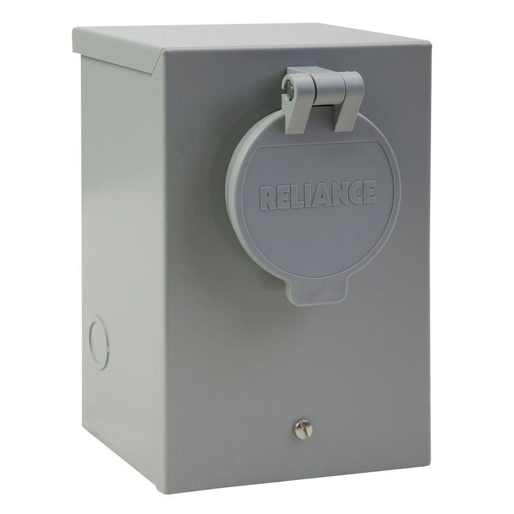 GE Generator Power Inlet Box NEMA 3R Outdoor Galvanized Steel 30-Amp 120-240 V