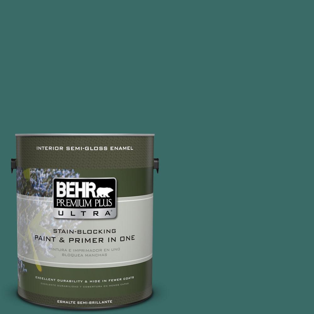 BEHR Premium Plus Ultra 1-gal. #M450-7 Beta Fish Semi-Gloss Enamel Interior Paint