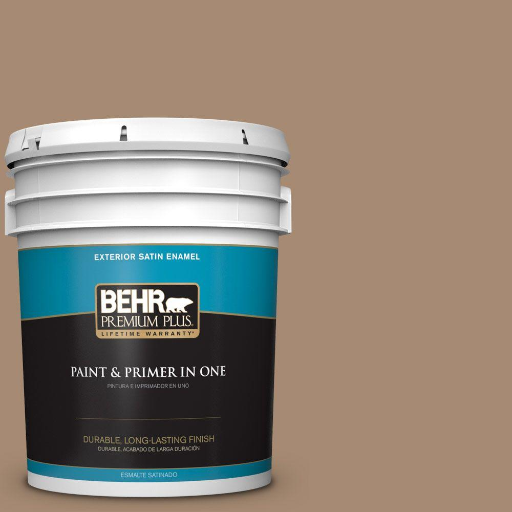 BEHR Premium Plus 5-gal. #N260-5 Distant Land Satin Enamel Exterior Paint