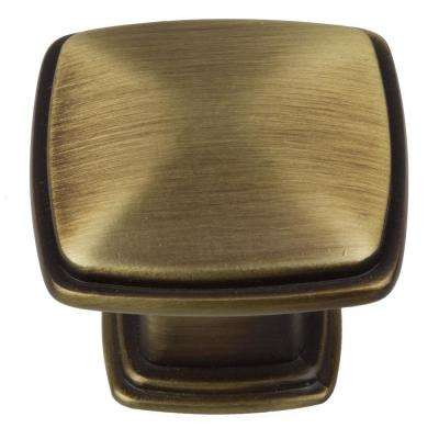 Brass - Square - Cabinet Knobs - Cabinet Hardware - The Home Depot