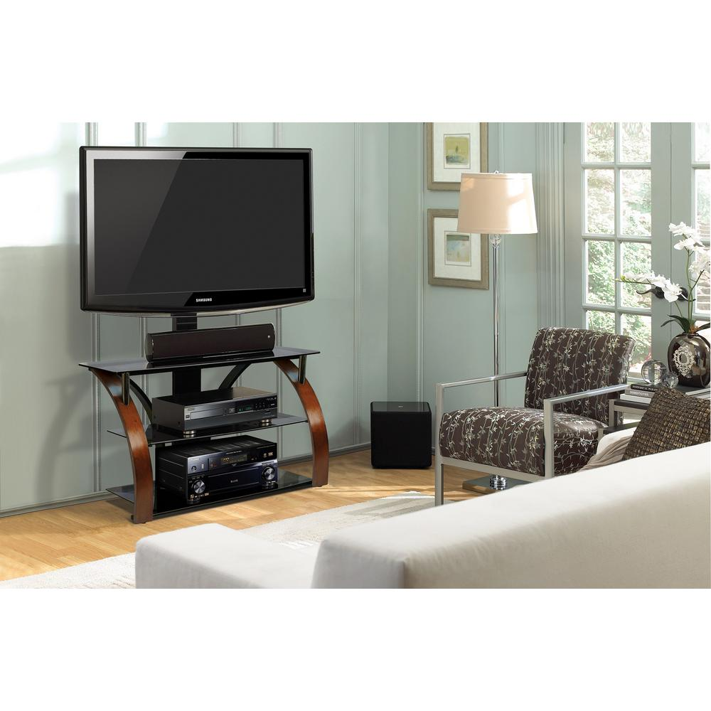 Brown and Black Entertainment Center