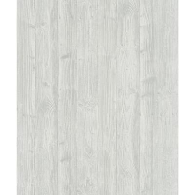 8 in. x 10 in. Talbot Light Grey Wood Wallpaper Sample