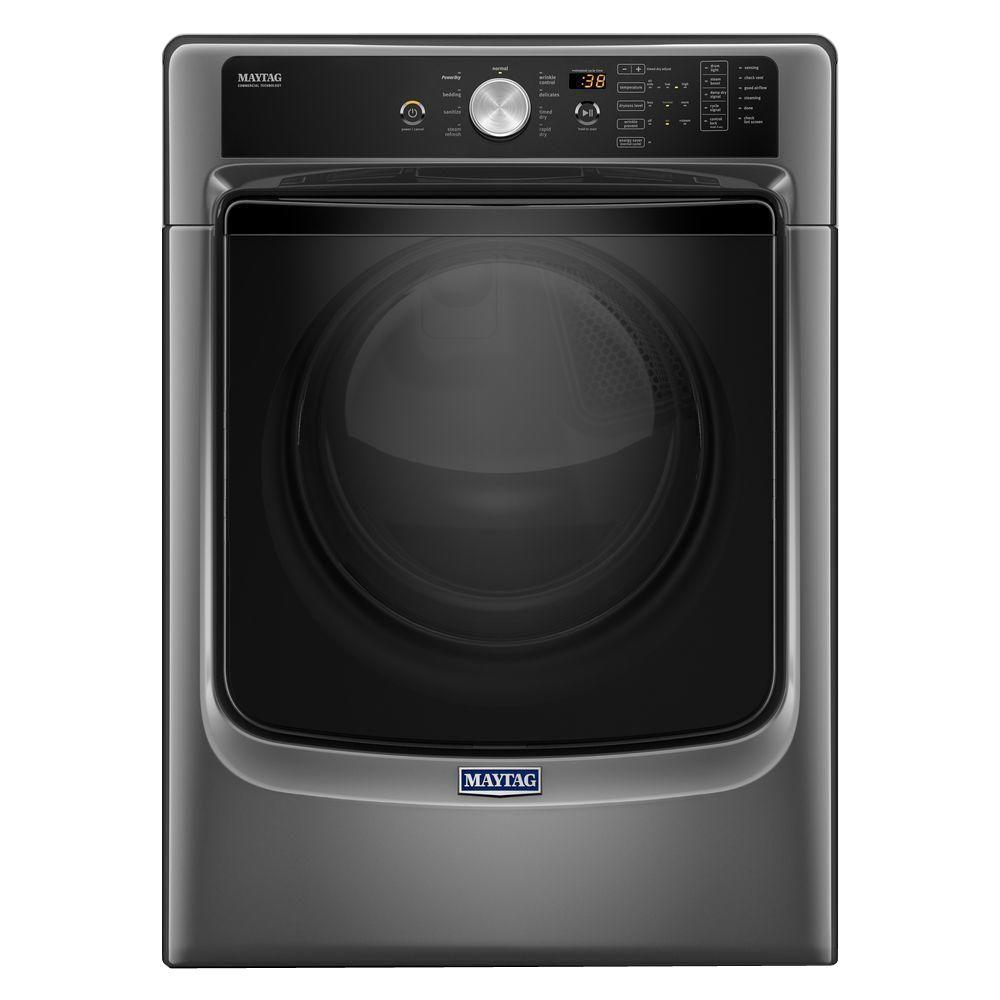 7.4 cu. ft. Electric Dryer with Steam in Metallic Slate, ENERGY