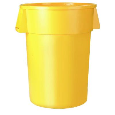 Bronco 20 Gal. Yellow Round Trash Can (6-Pack)
