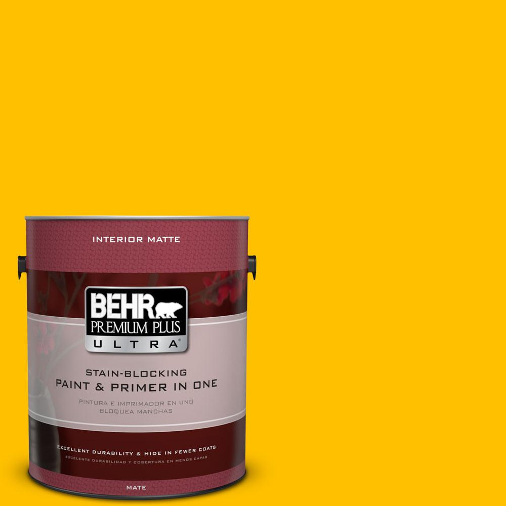 1 gal. #360B-7 Center Stage Matte Interior Paint and Primer in