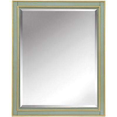 Disnmore 26 in. W x 32 in. H Single Framed Mirror in Gilded Green