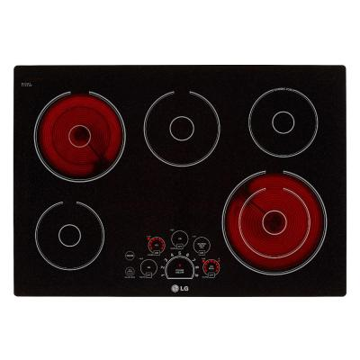 30 in. Radiant Smooth Surface Electric Cooktop in Black with 5 Elements