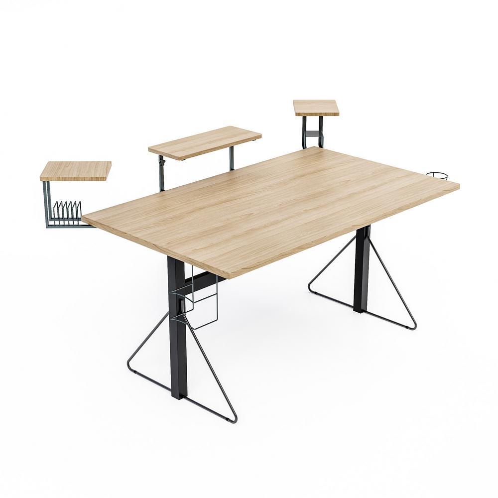 Carnegie Black/Natural Computer Gaming Desk XL