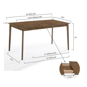 Poly and Bark Salerno Apartment Size Extension Dining Table ...