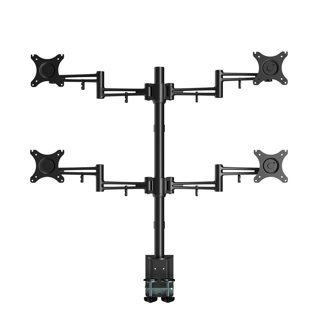 Samsung Full Motion Quad Desk Mount Stand Fits 10 in. - 2...