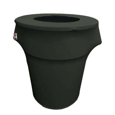 Round Black Stretch Cover for 55 Gal. Trash Can