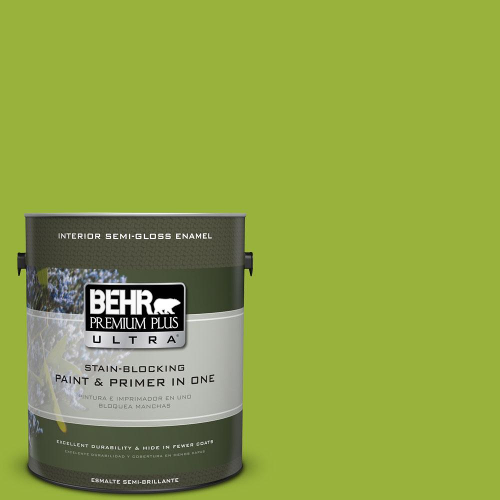 1-gal. #410B-7 Bamboo Leaf Semi-Gloss Enamel Interior Paint