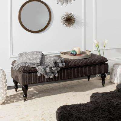 Hampton Charcoal Gray Pinstriped Mobile Bench