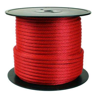 1/2 in  x 250 ft  Diamond Braid Rope, Red