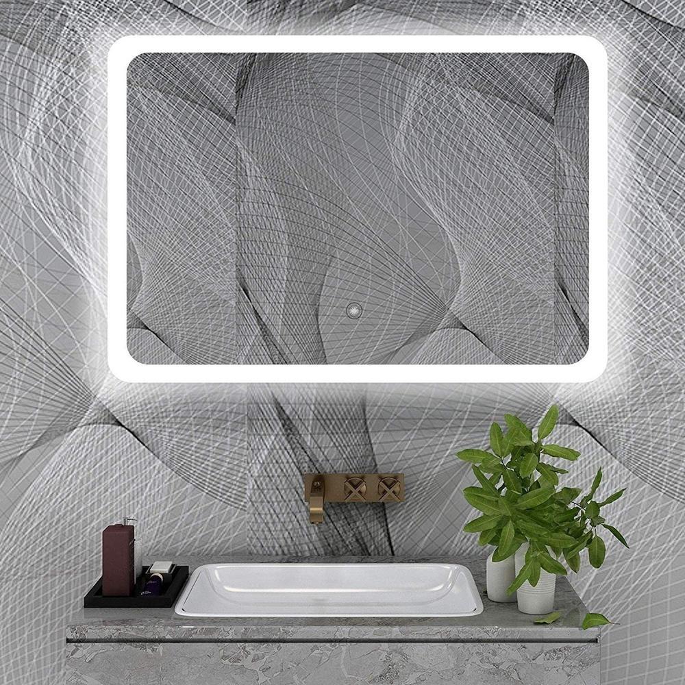 Vanity Art 47 In W X 28 In H Frameless Rectangular Led Light Bathroom Vanity Mirror In Clear Va59r The Home Depot