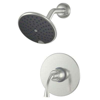 Adelais Single-Handle 1-Spray Shower Faucet in Brushed Nickel (Valve Included)