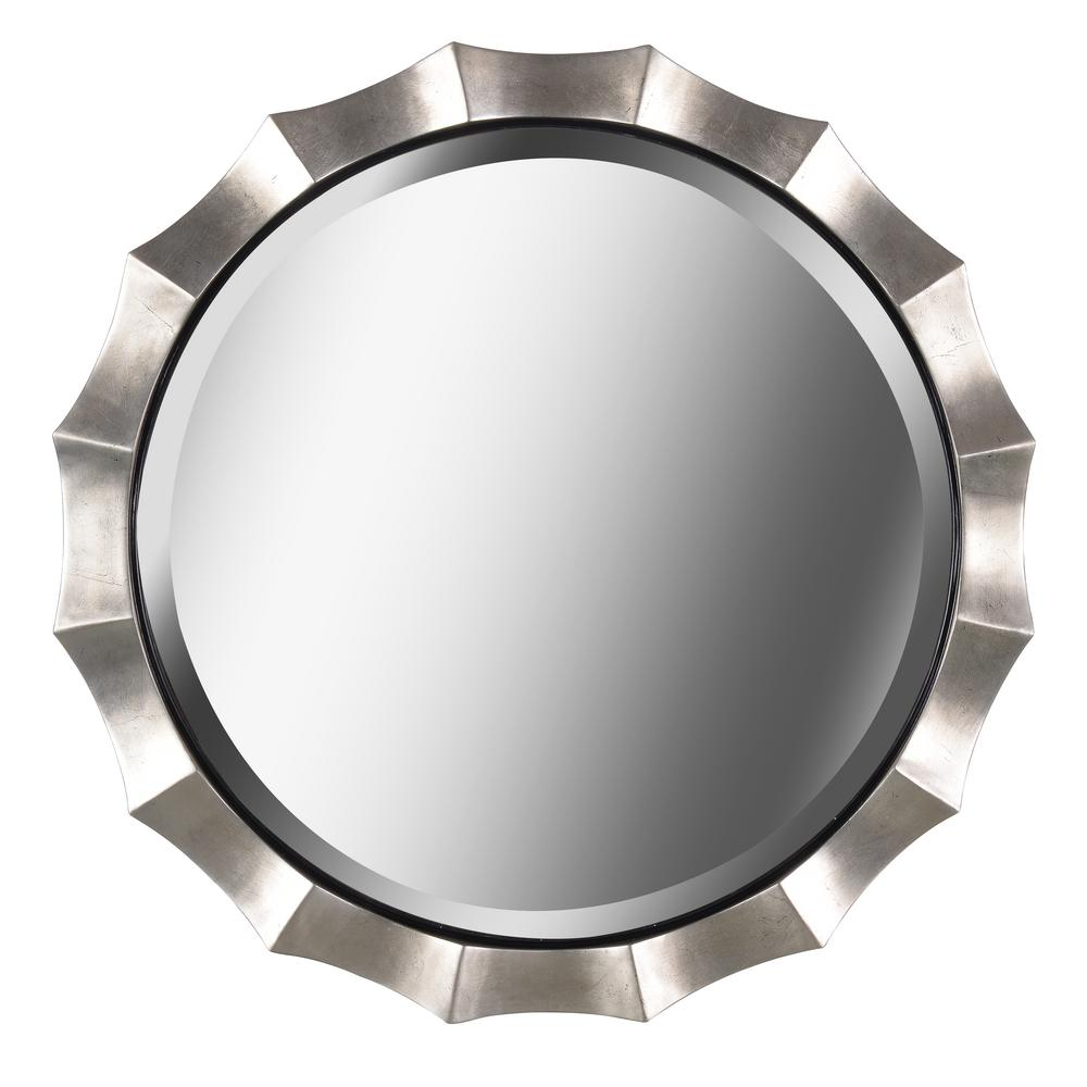 Kenroy Home Che 34 In X Silver Wall Mirror