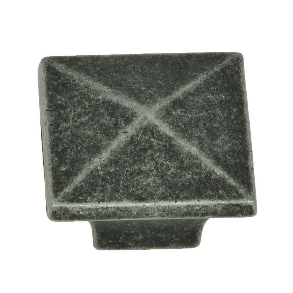 Cairo 1-1/4 in. Swedish Iron Square Cabinet Knob (10-Pack)