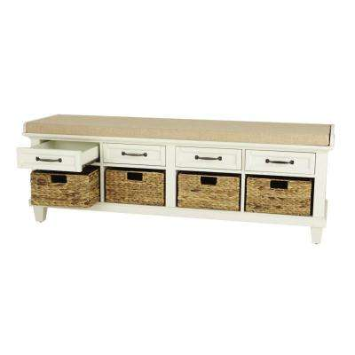 Martin Ivory Shoe Storage Bench