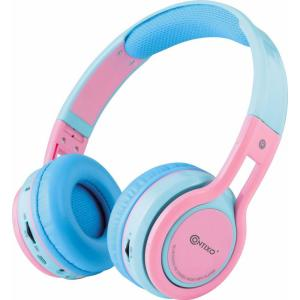 593a1ac11b1 CONTIXO KB2600 Kid Safe 85db Foldable Wireless Bluetooth Headphone Built-in  Microphone, Micro SD Music Player (Pink w/ Blue)-KB-2600 Blue + Pink - The  Home ...