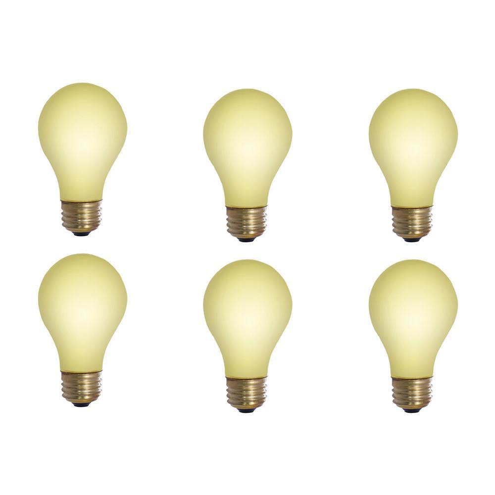 25-Watt A19 Yellow Bug Dimmable Incandescent Light Bulb (12-Pack)