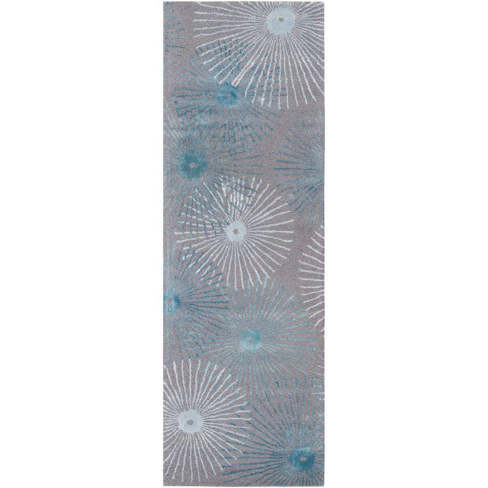 Artistic Weavers Potenza Silvered Gray 3 ft. x 8 ft. Runner Rug