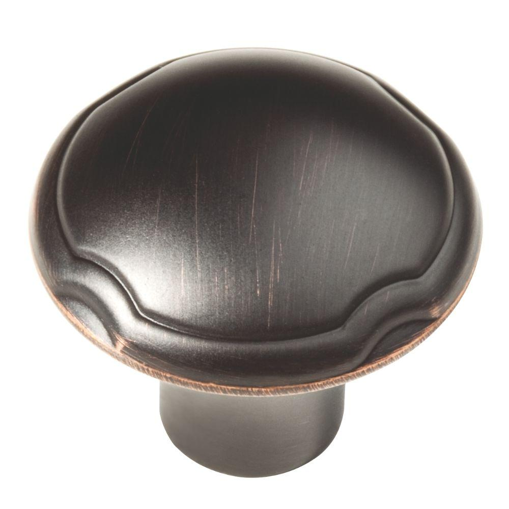 1-1/4 in. (32mm) Oil Rubbed Bronze Theo Cabinet Knob
