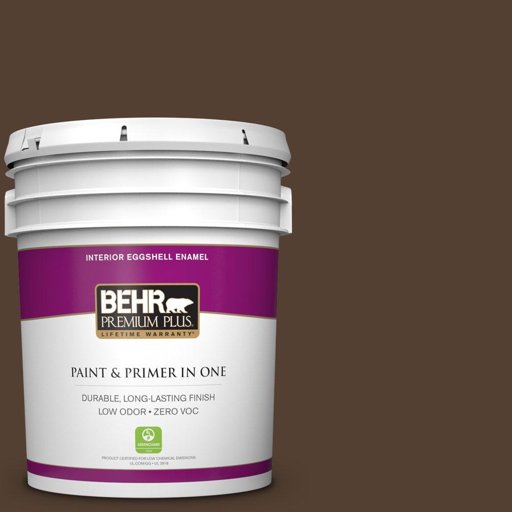 5 gal. #BXC-78 Cordovan Leather Zero VOC Eggshell Enamel Interior Paint