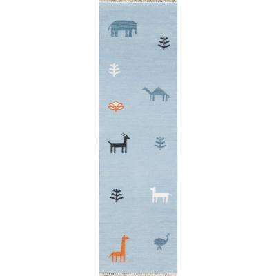 Porter Blue 2 ft. 3 in. x 8 ft. Runner