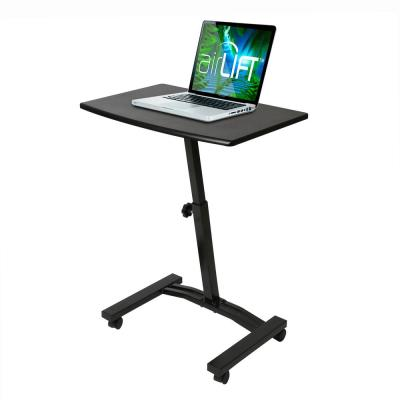 AIRLIFT Black Mobile Laptop Computer Desk Cart With Adjustable Height Range 20.5 in to 33 in