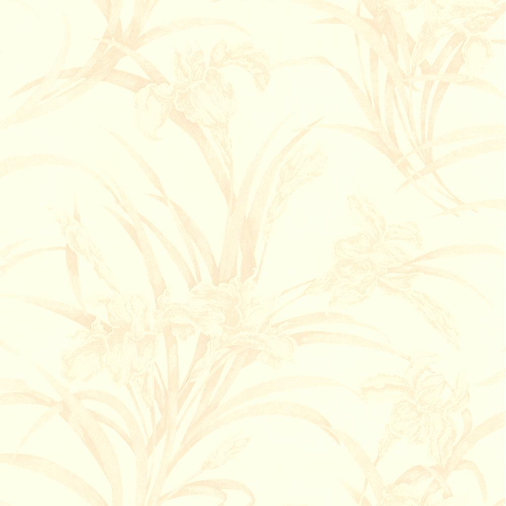 Brewster Ezra Light Brown Satin Marble Wallpaper Sample