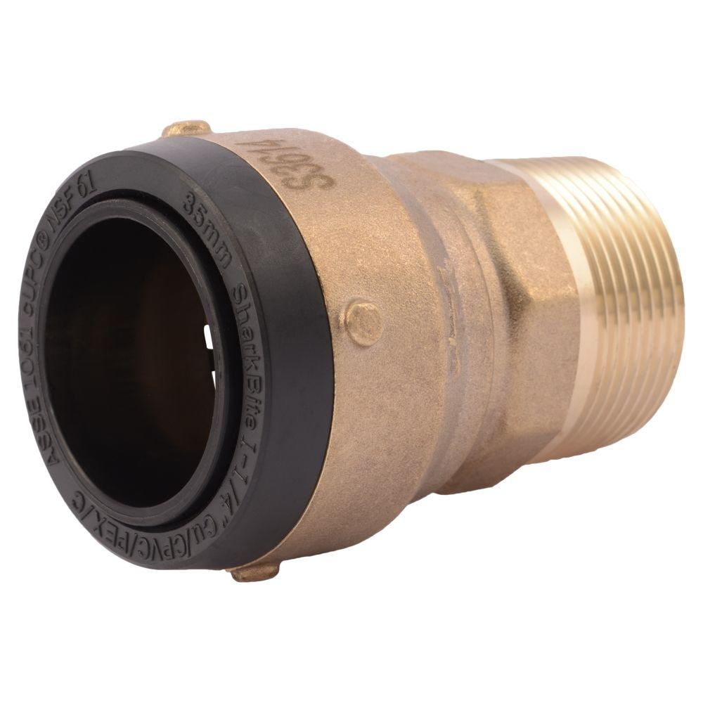 1-1/4 in. Brass Push-to-Connect x Male Pipe Thread Adapter