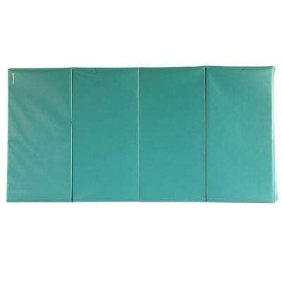 Folding Green 4 ft. x 8 ft. x 1.5 in. 18 oz. Vinyl and Foam Gymnastics Mat